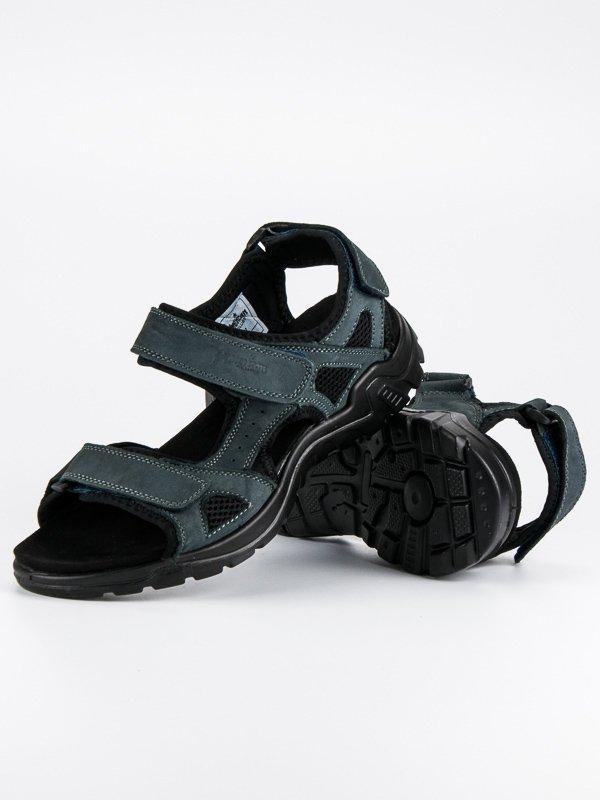 Klasické modré kožené pánské sandály 5fe84b0848