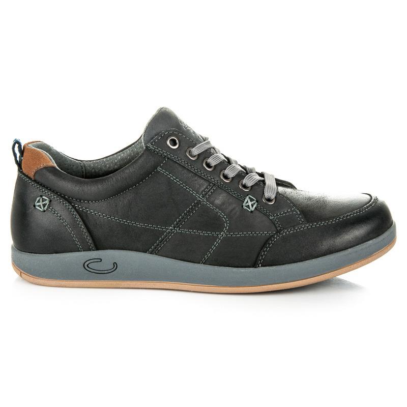 Pánské šedé sportovní boty na pohodlné podrážce