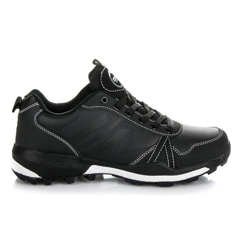Pohodlné černé pánské sportovní boty