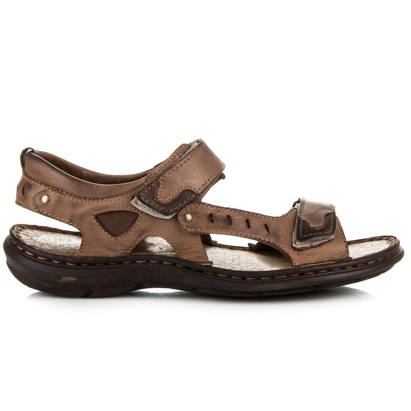 Pohodlné hnědé pánské sandály