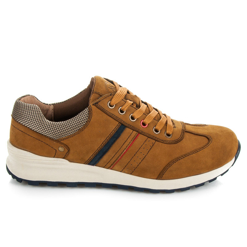 Pohodlné hnědé pánské sportovní boty