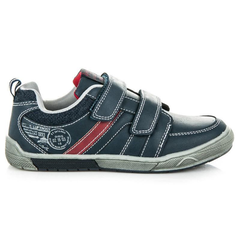 Pohodlné modré dětské sportovní botasky