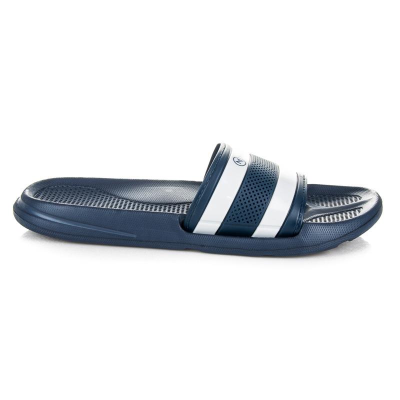 Pohodlné modré pánské pantofle