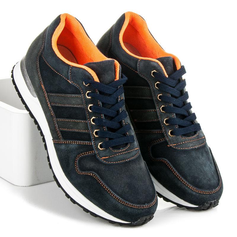 Pohodlné modré pánské sportovní boty
