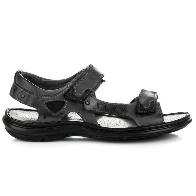 Pohodlné šedé pánské sandály