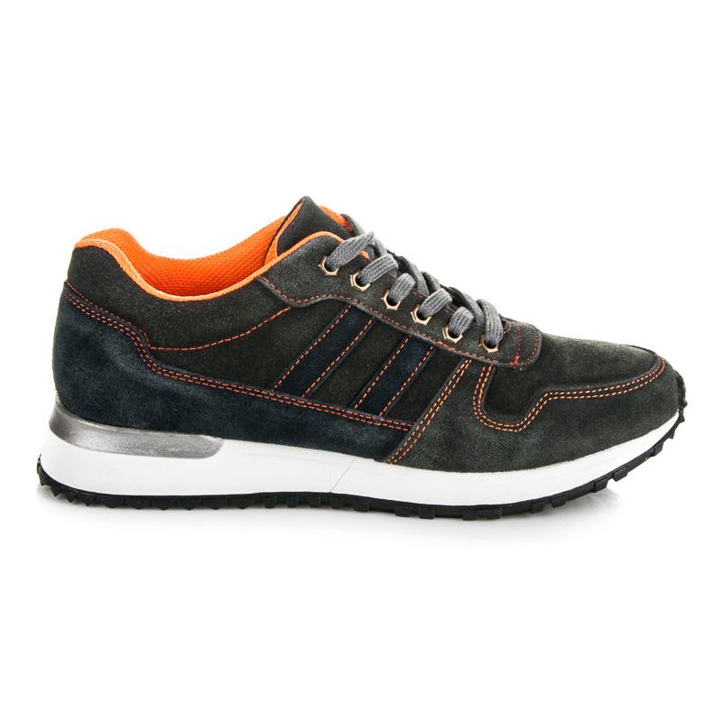 Pohodlné šedé pánské sportovní boty
