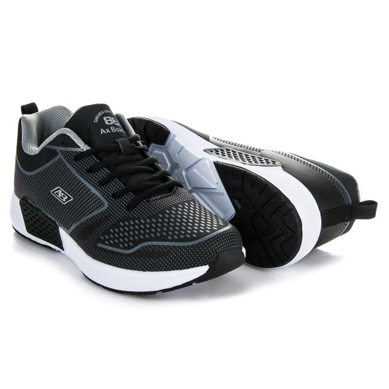 Pratické černé pánské sportovní boty