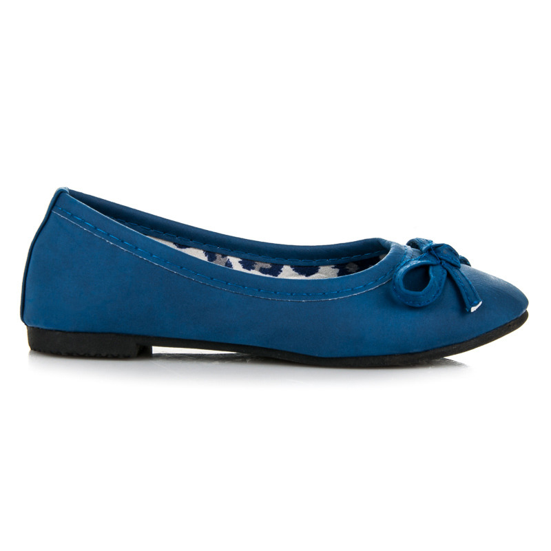 Roztomilé modré dívčí baleríny s gumičkou