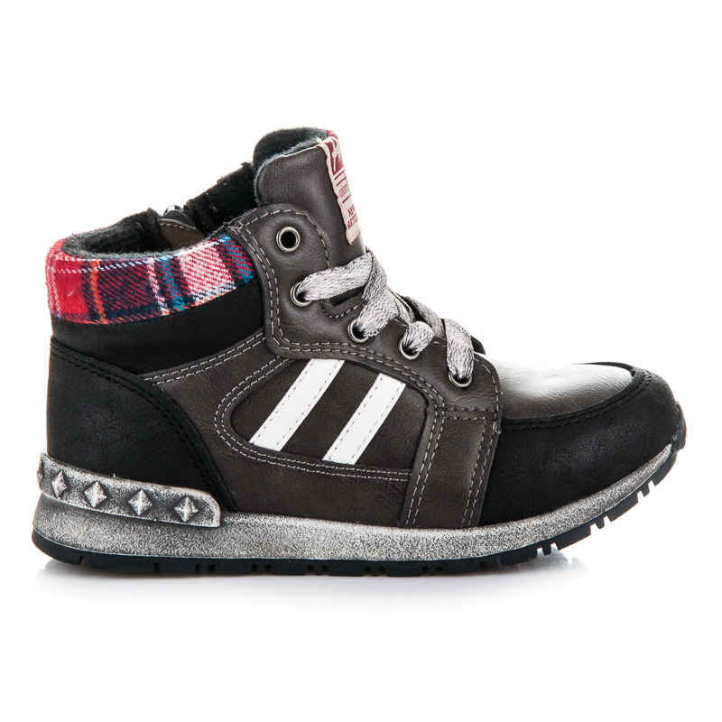 Sportovní černé chlapecké kotníkové boty