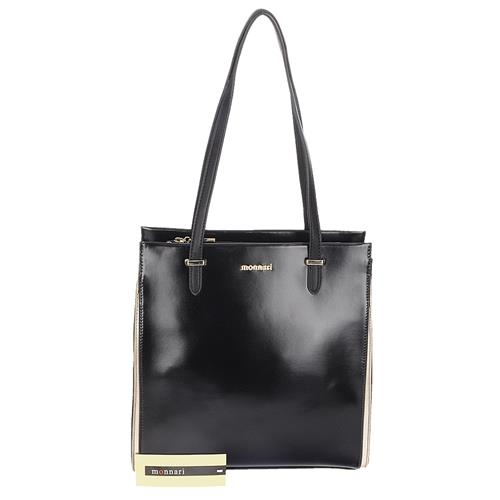 Stylová černá dlouhá dámská kabelka přes rameno