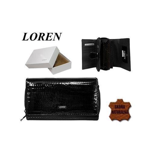 Stylová černá kožená dámská peněženka