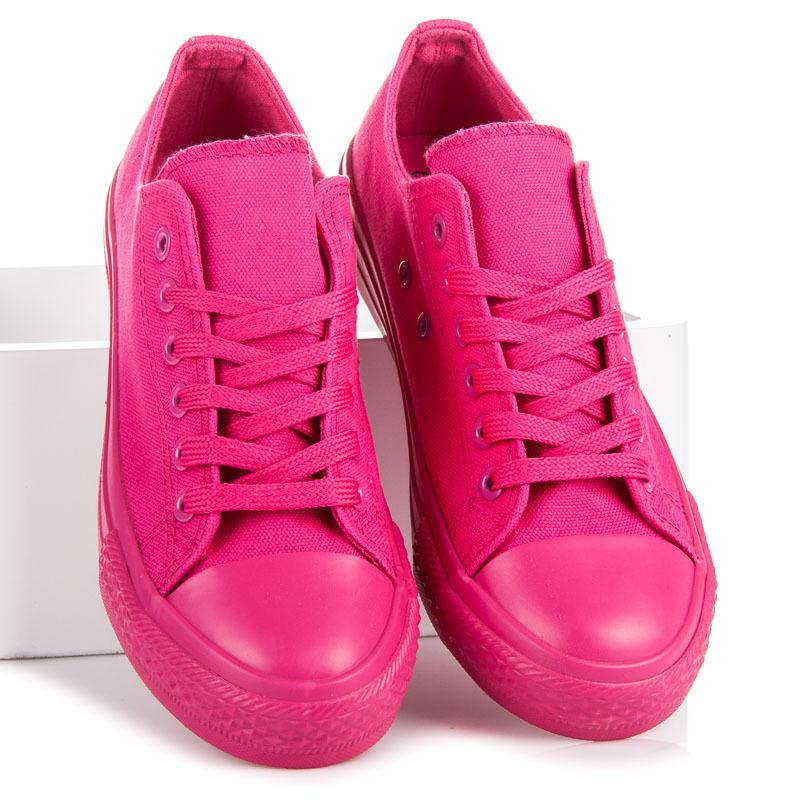 Stylové a módní růžové dámské tenisky