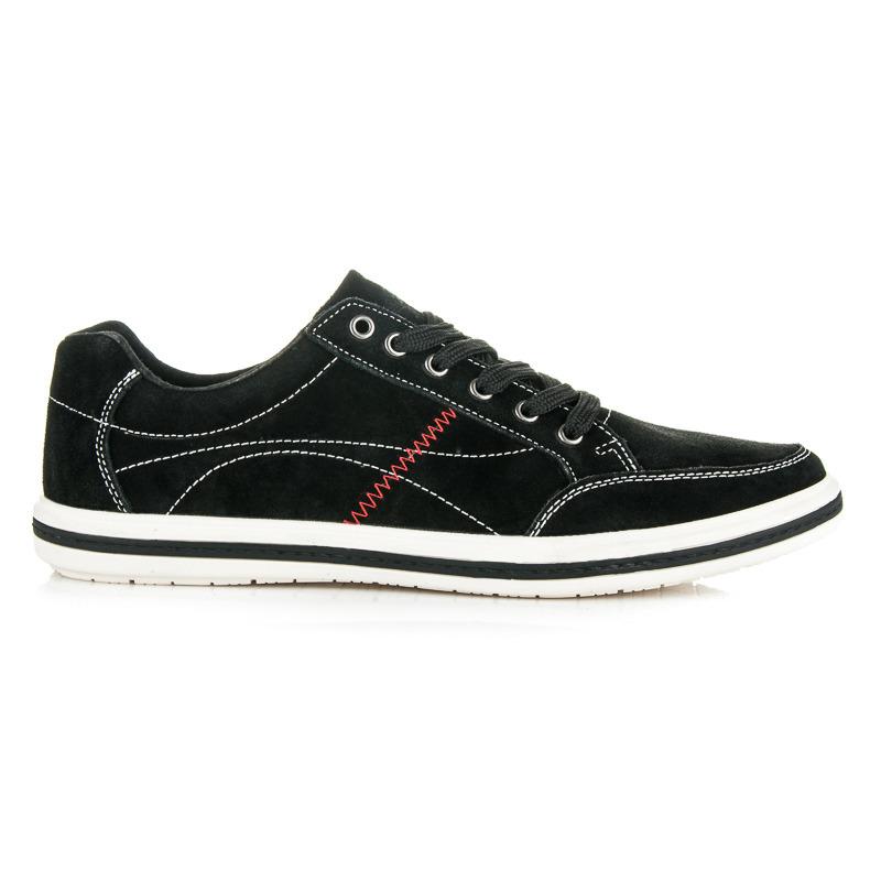 Stylové černé pánské sportovní boty