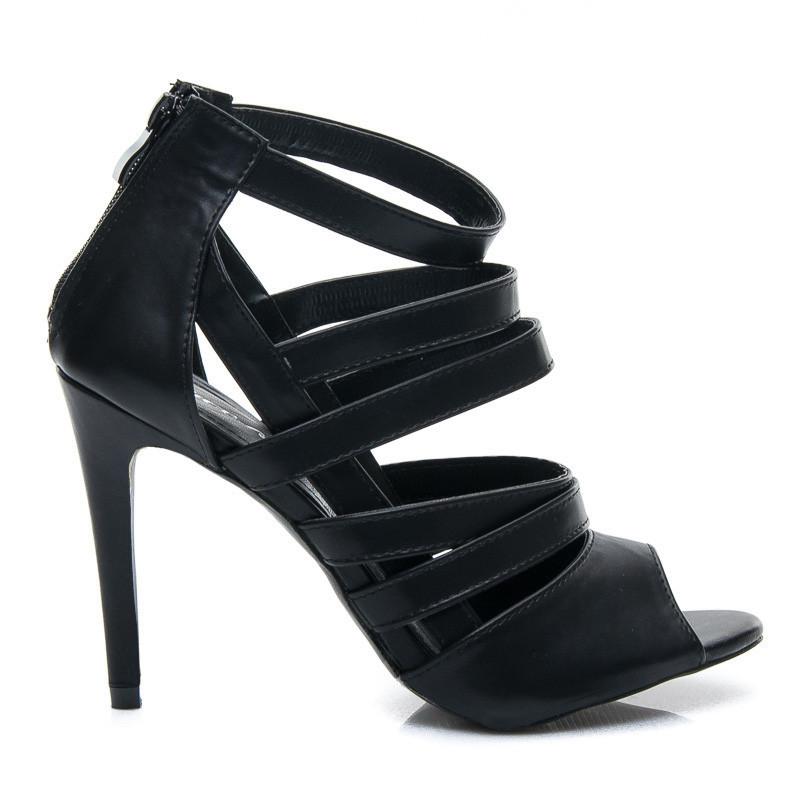 Stylové dámské černé sandálky