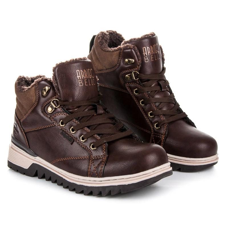 Stylové hnědé pánské kotníkové boty