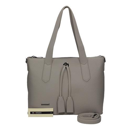 Velká šedá dámská kabelka přes rameno