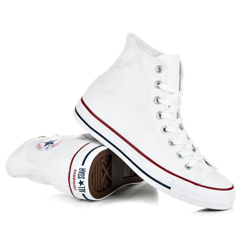 Velmi pohodlné bílé dámské kotníkové tenisky Converse