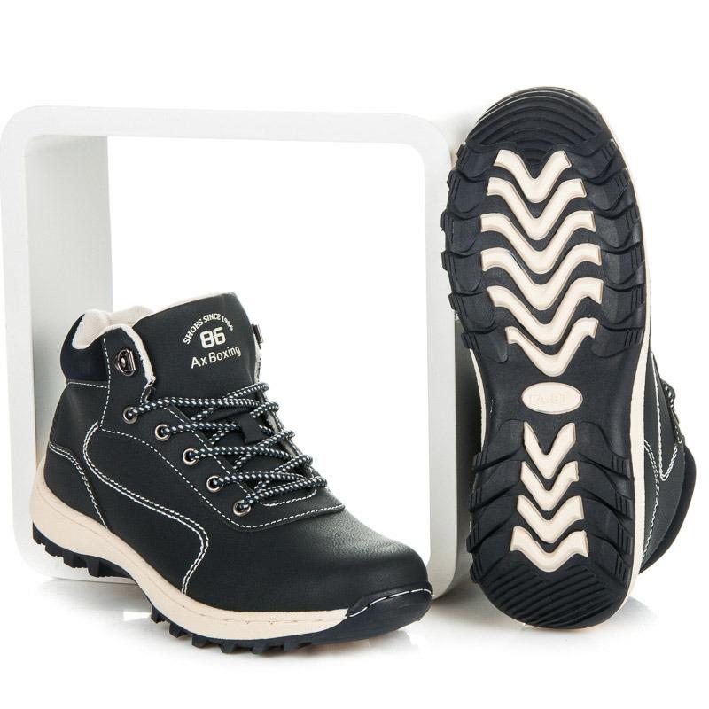 Výhodné modré trekingové boty