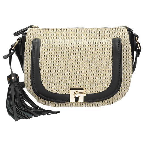 8ce8d3acc8 Černá crossbody kabelka s ozdobnými třásněmi