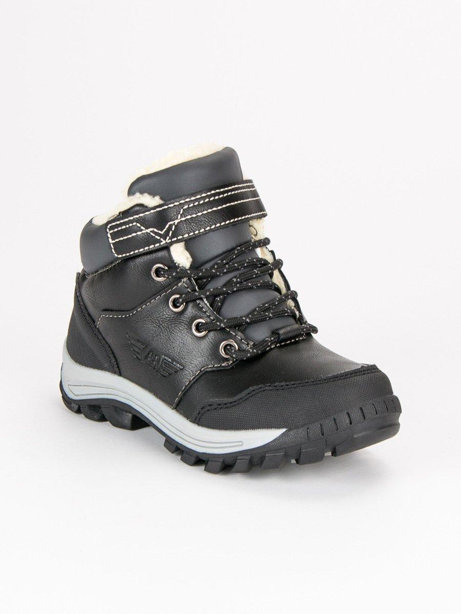 Černé dětské teplé zimní boty deec8237d7