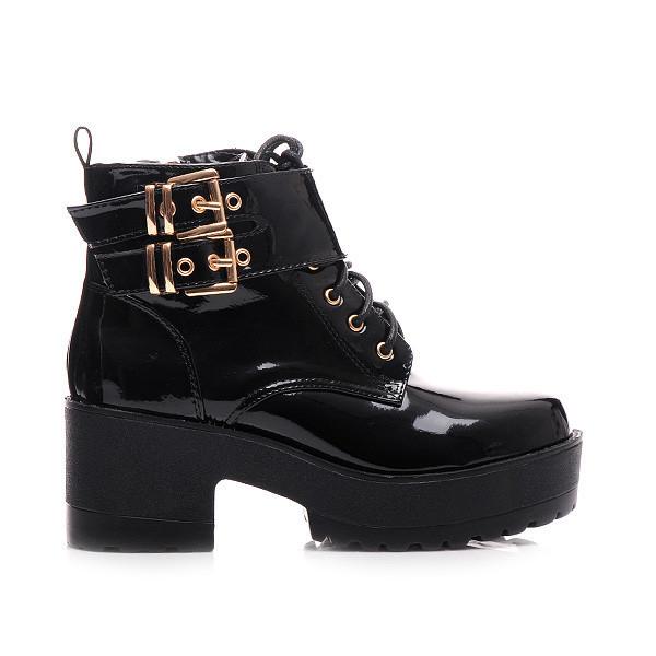 Černé kotníčkové boty