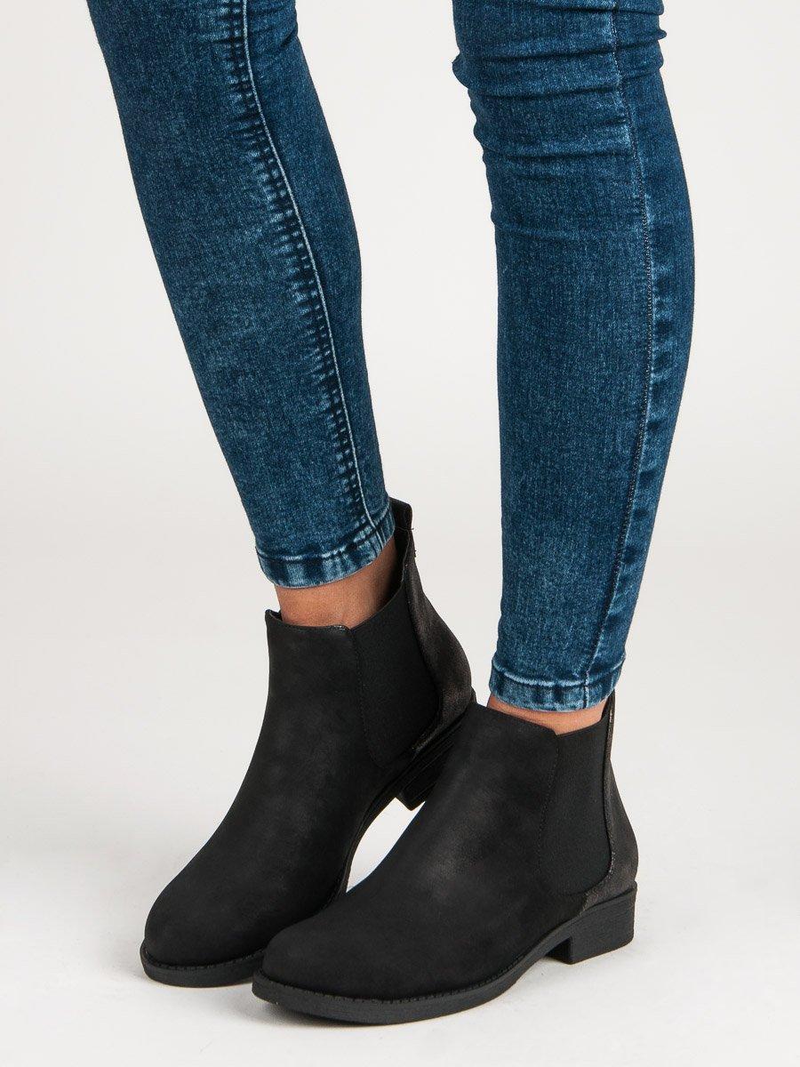 Černé kotníkové boty s elastickou vsadkou 9ccacfb1d5