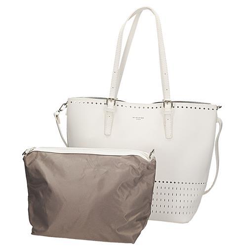 9d21dd7b278f Dámská bílá kabelka s kosmetickou taštičkou