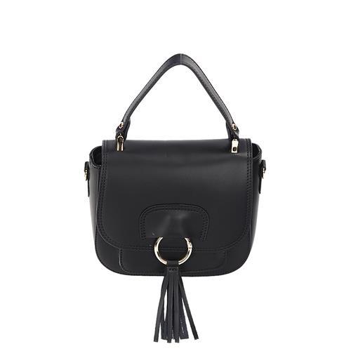 8d87043c81 Dámská černá luxusní kožená kabelka do ruky