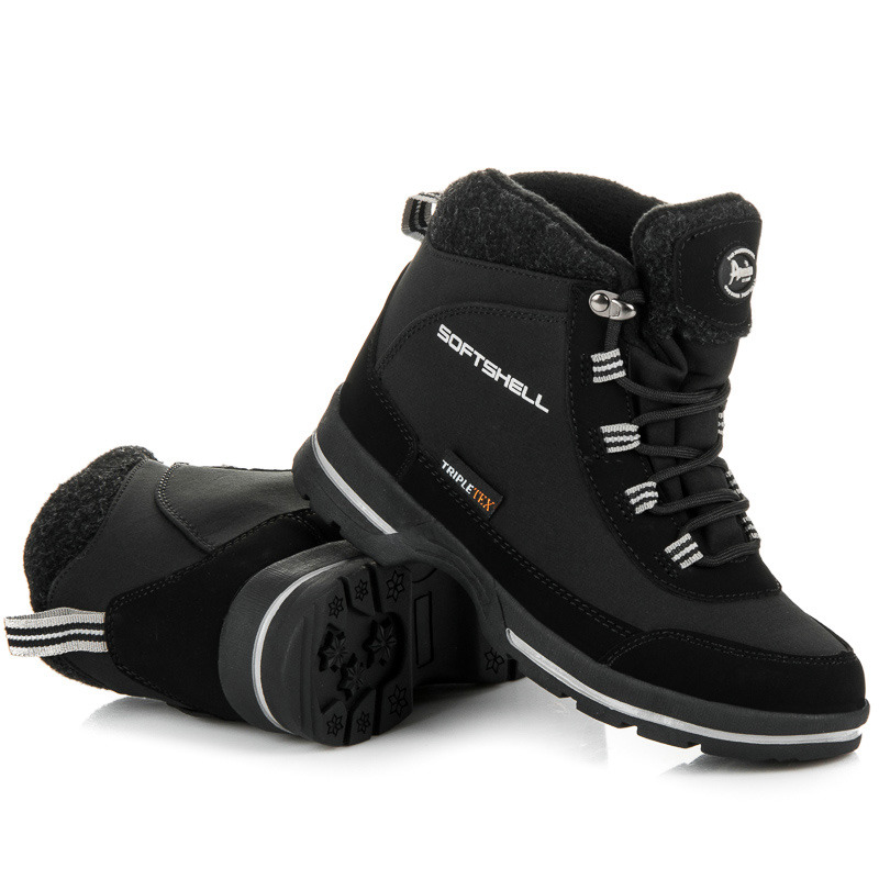 Dámské černé trekové boty s membránou Softshell  ed16d5a585