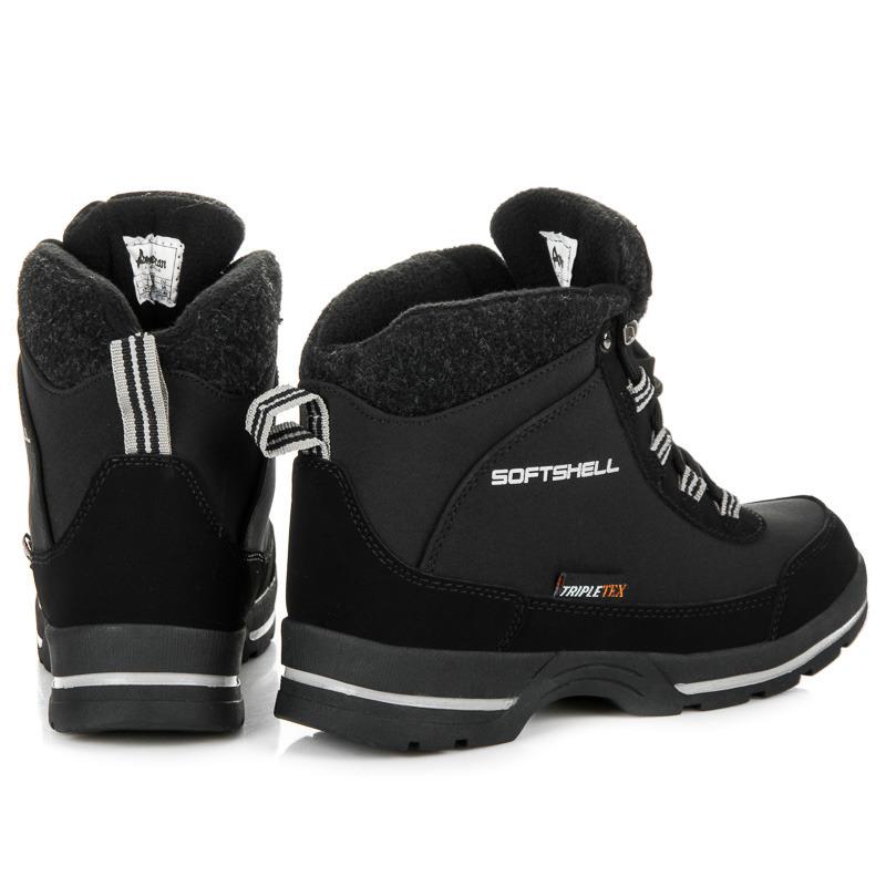 ... Dámské černé trekové boty s membránou Softshell 51e88a6518