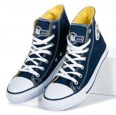 0e6e9e8973a6 Dámské modré kotníkové tenisky se šněrováním