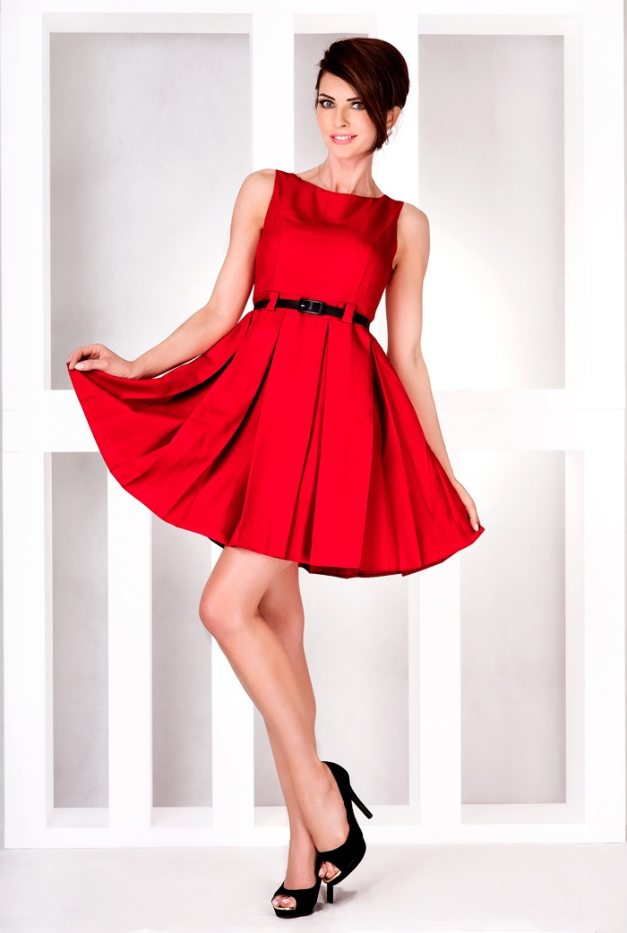 Numoco cervene saty damske 6 11  e55a4e01cd