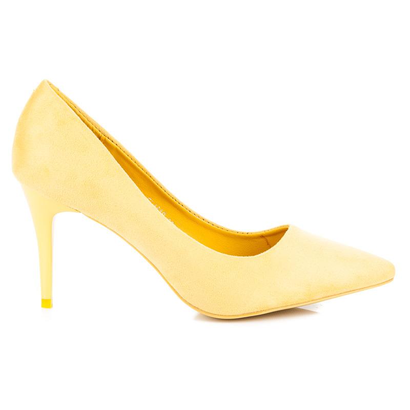 b9f20de6307 Dámské žluté lodičky v klasickém stylu