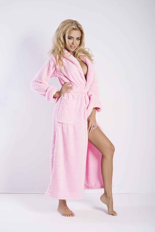 Dámský župan Eliza long pink