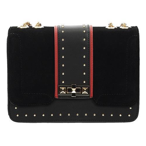 Designová černá crossbody kabelka s řetízkem