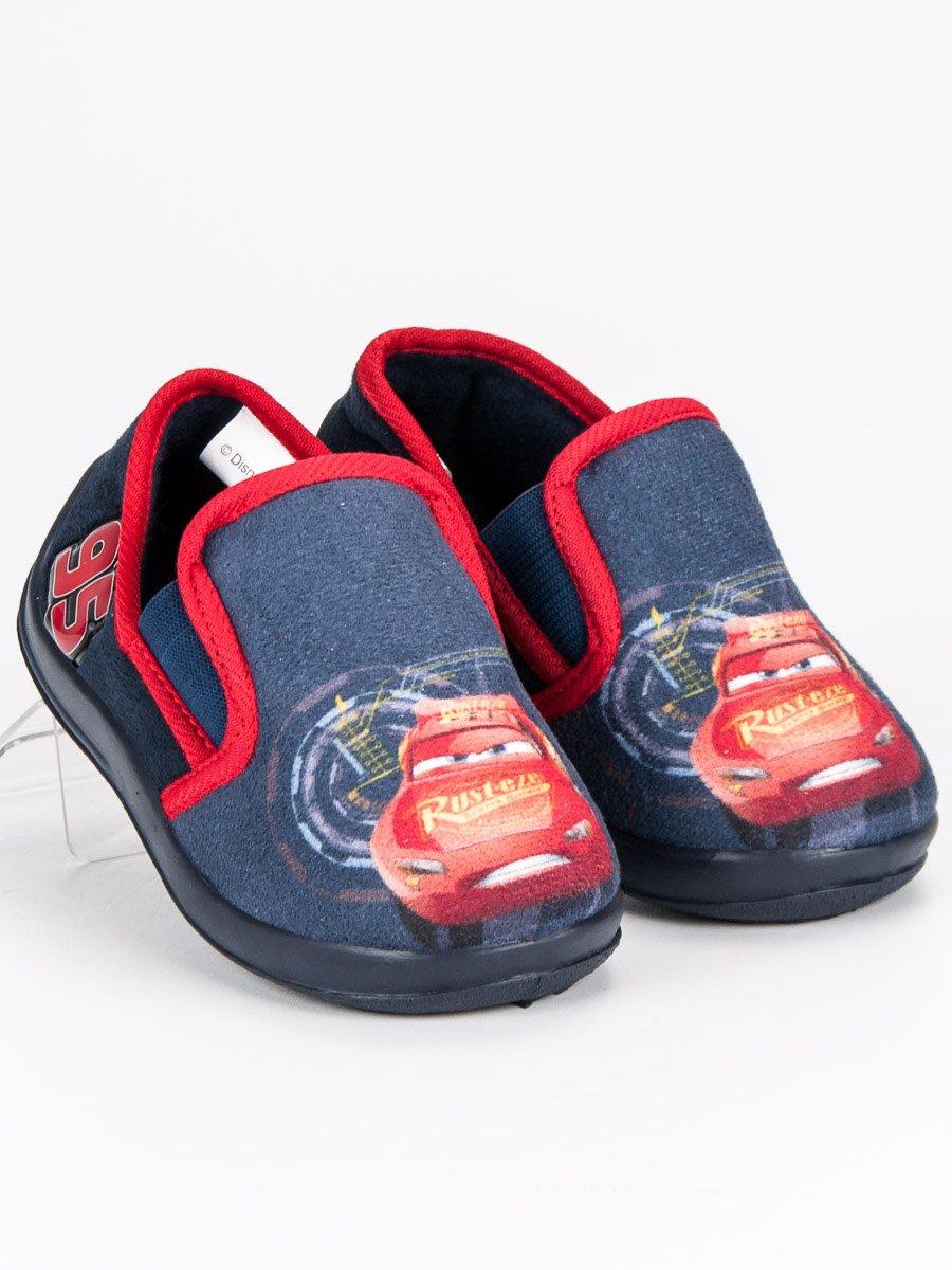 Dětské nazouvací modré papuče Auta 23ee6e3eb2