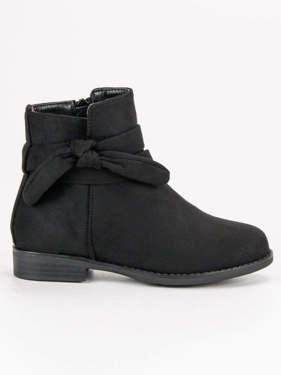 Dívčí černé kotníkové boty a64021158c