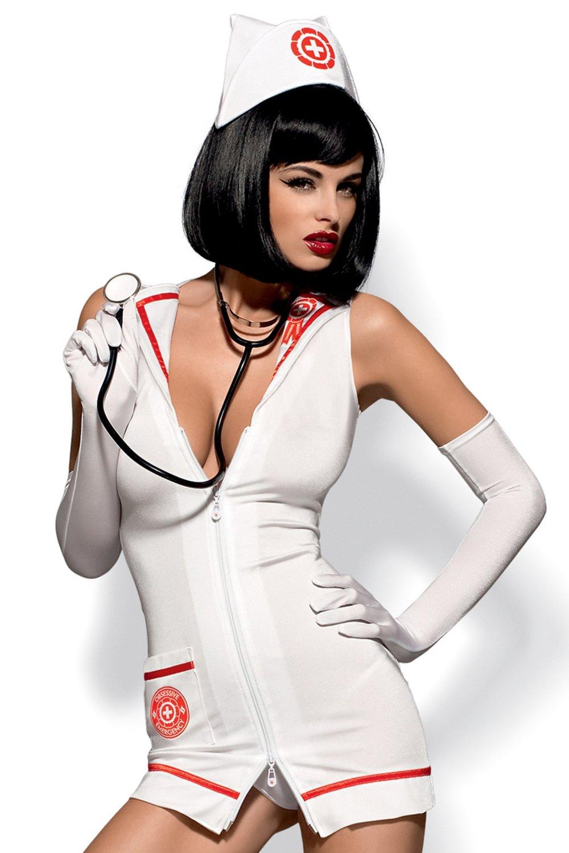 Erotický kostým Emergency dress stetoskop Obsessive