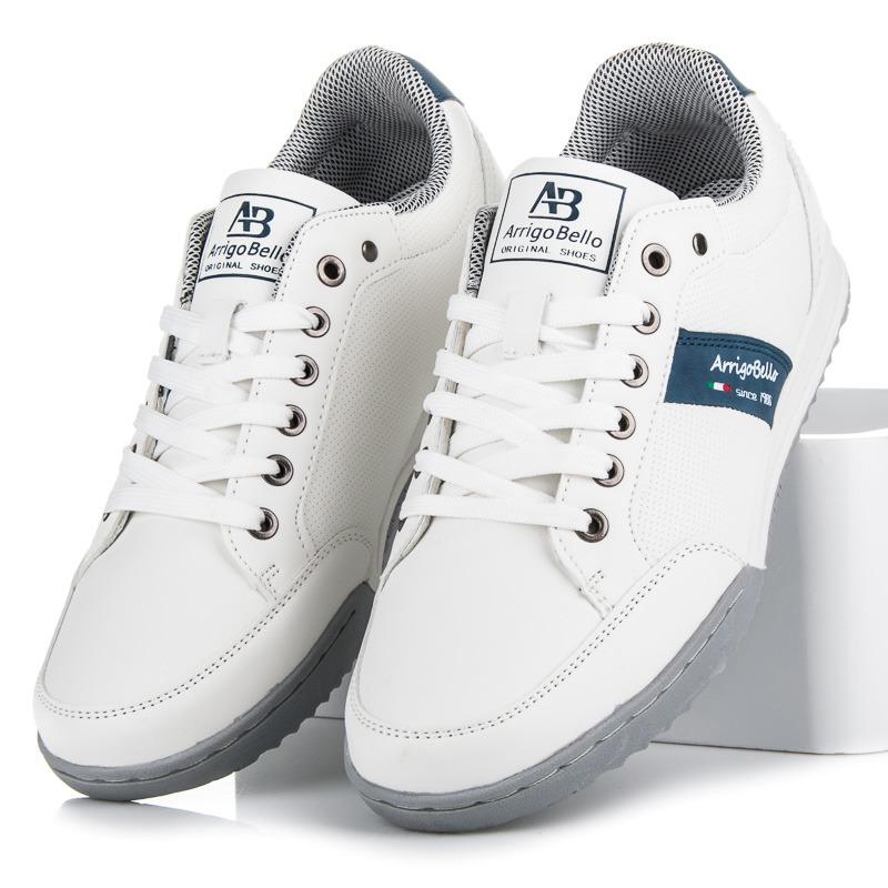 Jedinečné bílo-modré pánské tenisky  575168a4fdc