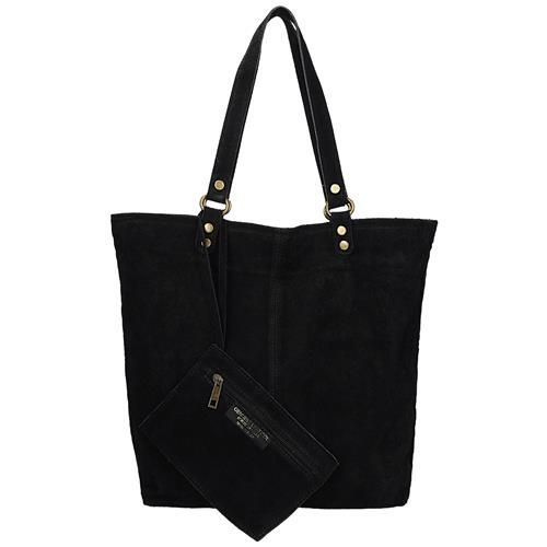 368b391bc7 Kožená černá italská kabelka s peněženkou