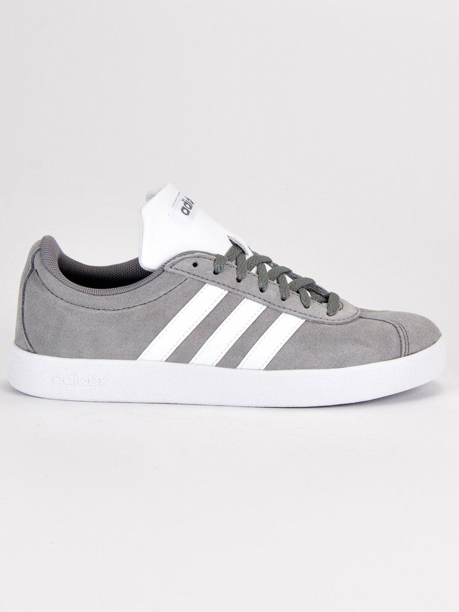 Kožené šedé tenisky značky Adidas  a0ef24e88f