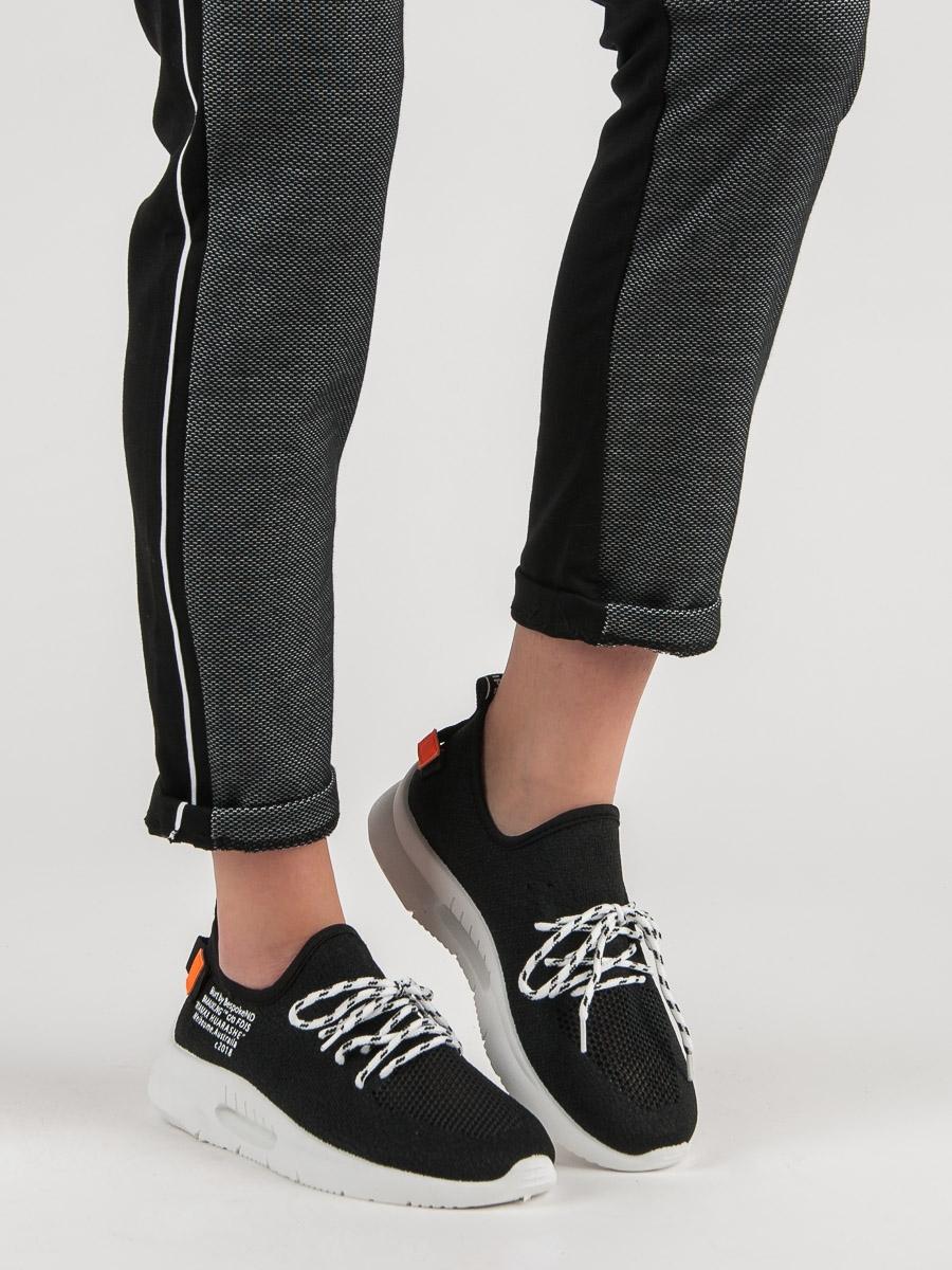 Krásné dámské tenisky černé bez podpatku  7fb105cf5e