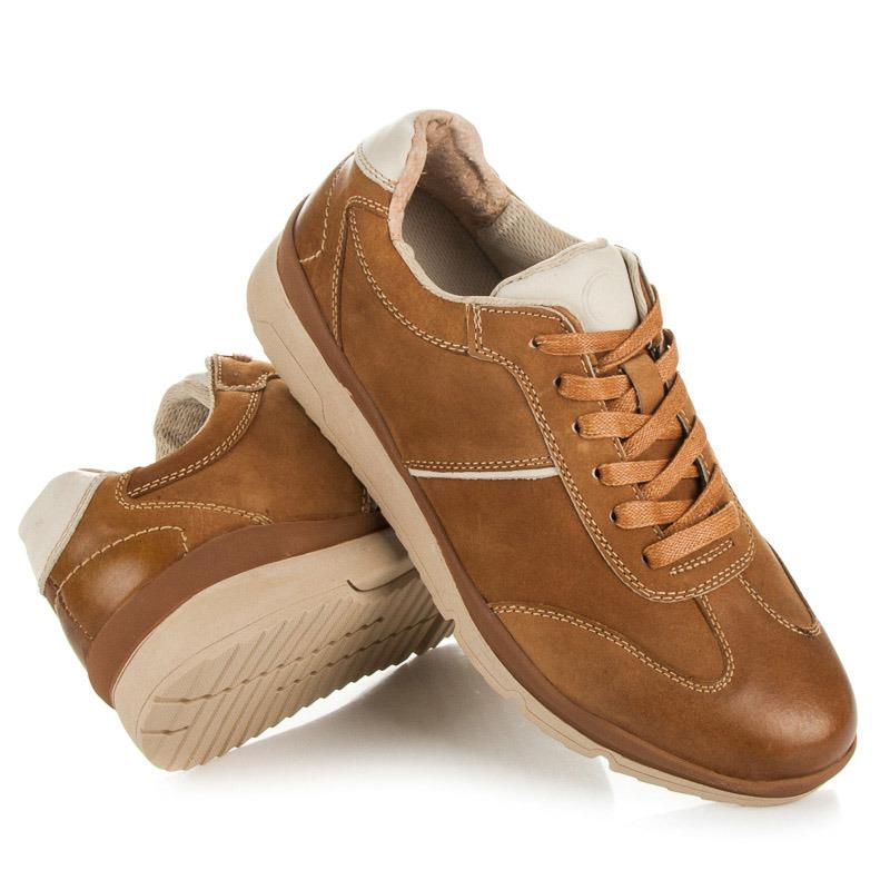 Kvalitní hnědé pánské sportovní boty  251227fe9d