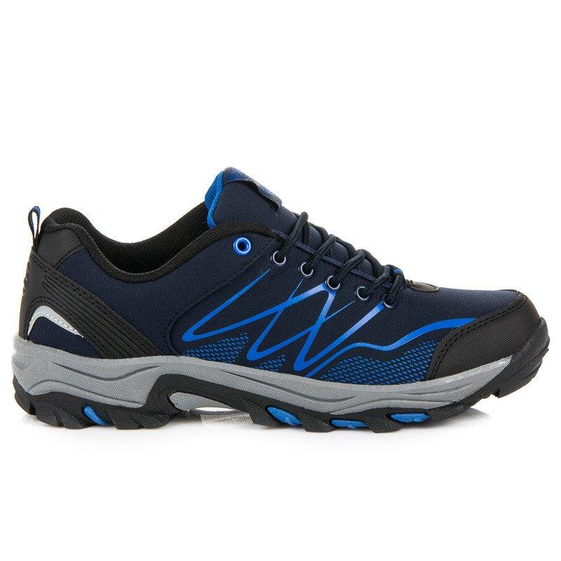 79eccc0d28e Kvalitní modré pánské trekové boty