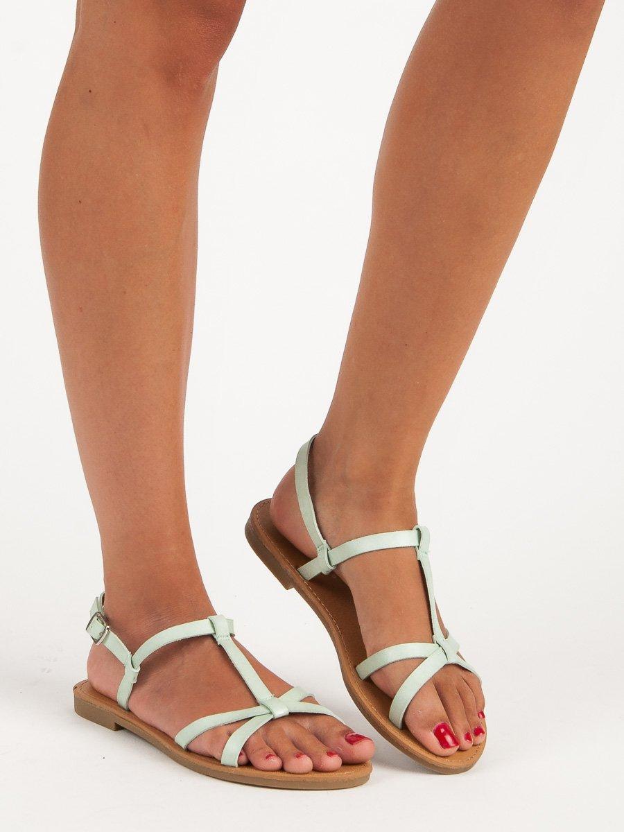 Lehké tyrkysové sandály