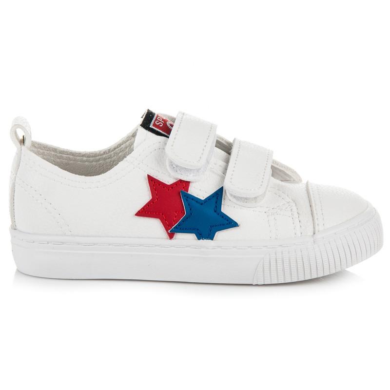 Luxusní bílé dětské tenisky s hvězdičkami