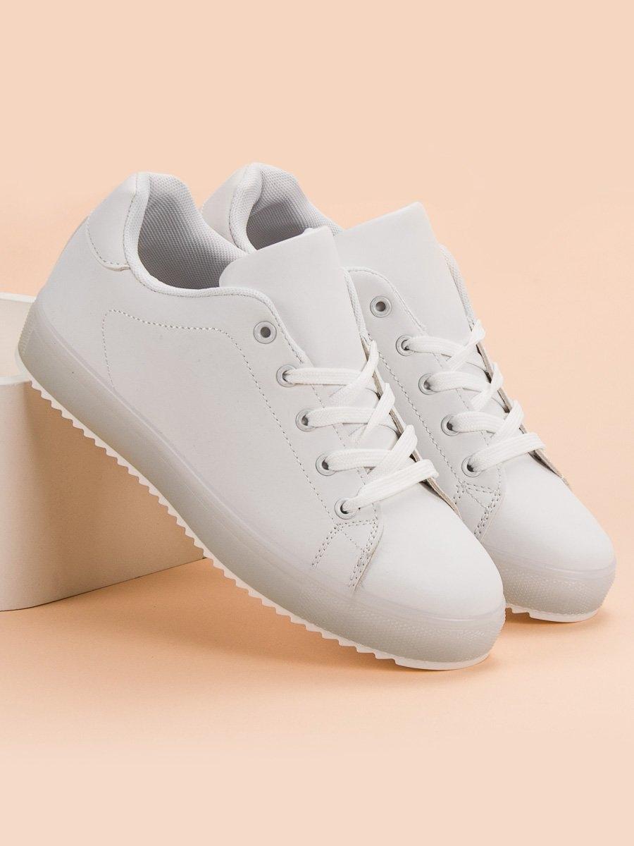 ba70f07d22cb Luxusní bílé tenisky dámské bez podpatku