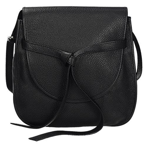 Luxusní černá kožená crossbody kabelka