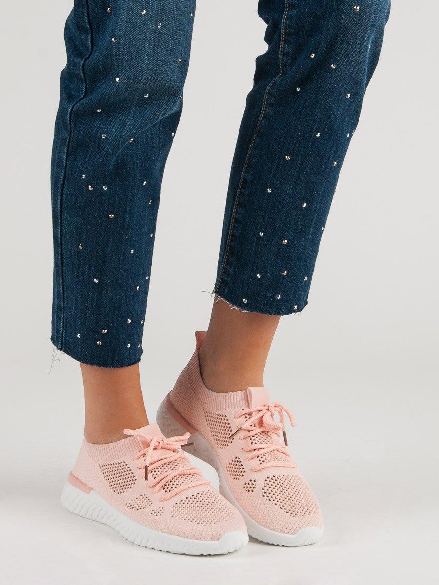 b13efad0ebec Moderní tenisky dámské růžové bez podpatku