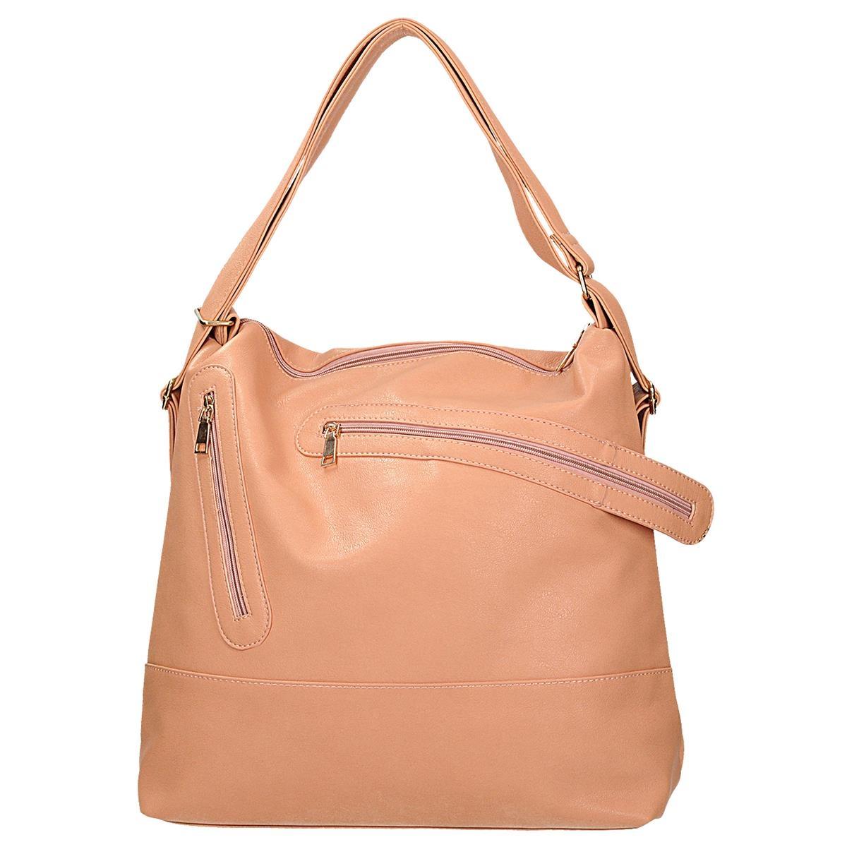 464058518f Originální růžová kabelka-batoh 2v1 univerzální